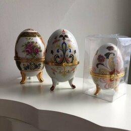 Шкатулки - Шкатулка Яйцо. 2 шт.  Шикарные, эффектные. Оригинальная роспись (рисунок), 0