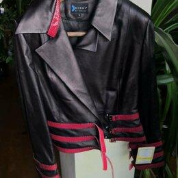 Куртки - Кожаная куртка новая, 0