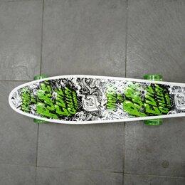 Скейтборды и лонгборды - Пенни борд c принтом , колеса ПУ, длина 55см, 0