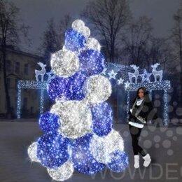 Новогодний декор и аксессуары - Световая Ель Bubbles (цвет на выбор), 0