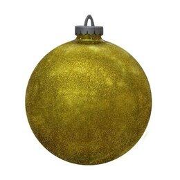 Новогодний декор и аксессуары - Елочный шар золотой 350мм,с глиттером лакированный, 0