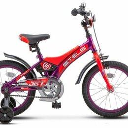 """Велосипеды - Детский велосипед STELS Jet 16 Z010 фиолетовый/оранжевый 9"""" рама, 0"""