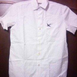 Рубашки - Рубашка белая с коротким рукавом хлопок  р.40, 0