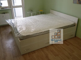 Кровати - Кровать Амелина с ящиками и матрасом , 0