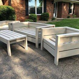 Комплекты садовой мебели - Уличная мебель, диван, кресло, столик, 0