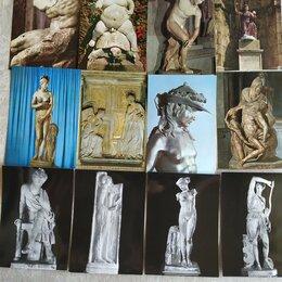 Открытки - Итальянские открытки 60-х годов ХХ века. Скульптура. Живопись. 70 штук., 0