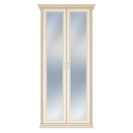 Шкафы, стенки, гарнитуры - Шкаф Венето 2-х дверный (с зеркальными фасадами), 0