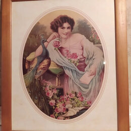"""Картины, постеры, гобелены, панно - Картина """"Портрет молодой девушки"""", 0"""