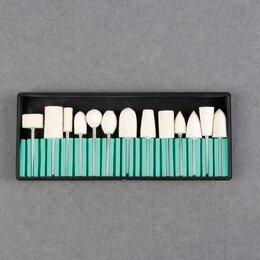 Аппараты для маникюра и педикюра - Фрезы войлочные для маникюра в органайзере, 13 шт, 0