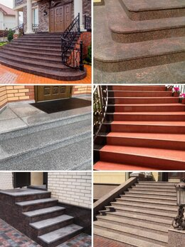Тротуарная плитка, бордюр - Гранитная плитка. Гранитные ступени. Брусчатка.…, 0