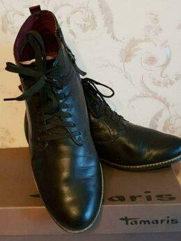 Ботинки - Ботиночки кожаные Tamaris, на размер 40-41. (Б/у), 0