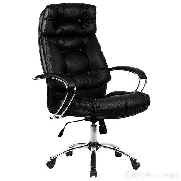 Кожаное офисное кресло руководителя Линкольн-14 хром по цене 14500₽ - Компьютерные кресла, фото 0