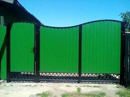 Заборы и ворота - Металлические ворота и калитки с профильным листом, 0