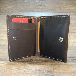 Визитницы и кредитницы - Картхолдерна кнопке кожаный., 0
