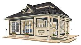 Готовые строения - Дачный дом с баней  TEREMDOM  №БК23, 0