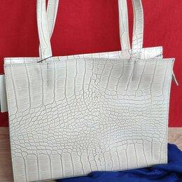Сумки - Новая стильная сумка шоппер из натуральной кожи, 0