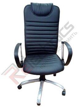 Компьютерные кресла - Кресло Страйк спинка к/з перф черная подголовник к, 0