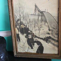 Картины, постеры, гобелены, панно - картина Ретро москва ленинские горы 1959 г, 0
