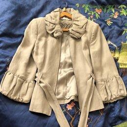 Куртки - Куртка женская летняя легкая Zara, лен, р.S, 0