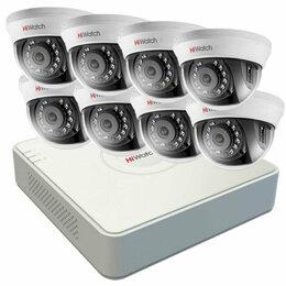 Камеры видеонаблюдения - Комплект видеонаблюдения hiwatch на 8 камеры 5mp, 0