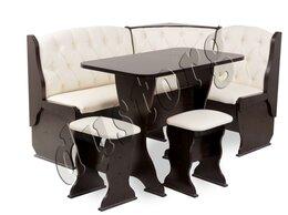 Банкетки и скамьи - скамья угловая со столом и табуретами новая с…, 0