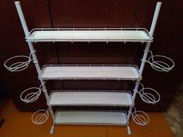 Стеллажи и этажерки - Стеллаж Кедр на ножках для цветов (ширина 84 см.), 0