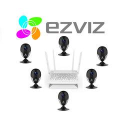 Камеры видеонаблюдения - Комплект на 6камер ezviz С2С(Full HD) +Vault Plus, 0