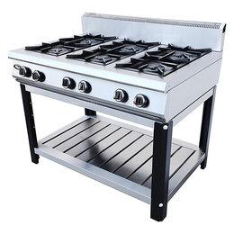 Промышленные плиты - Плита газовая Grill Master Ф6ПГ/800 на подставке, 0