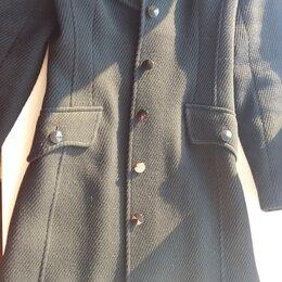 Пальто - Пальто черное в рубчик драп высокое качество, 0