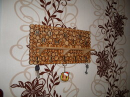 Полки - Полка панно ключница из спилов, 0