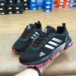 Кроссовки и кеды - Кроссовки Adidas Marathon мужские черные (A856), 0