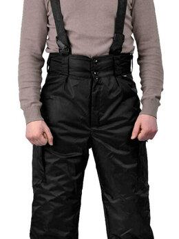 Одежда - Брюки Охранника на бретелях, зимние, черные, 0