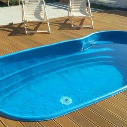 Бассейны - Пластиковый бассейн для дачи 4,1 х 2,1 х1,25 со ступеньками, 0