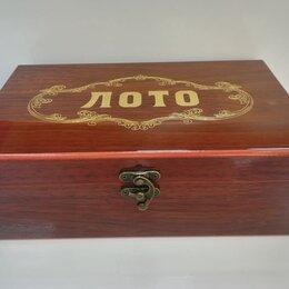 Настольные игры - Русское лото в деревянной коробке подарочное, 0