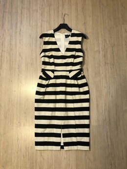 Платья - Нарядное платье в черно-белую полоску ASOS, 0