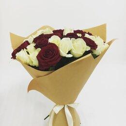 Цветы, букеты, композиции - 51 роза,букет микс,белые розы,красные розы , 0