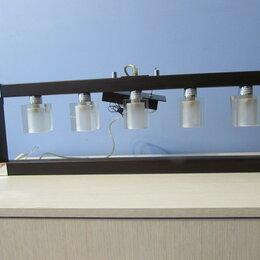 Люстры и потолочные светильники - Люстра потолочная в коридор, цвет венге. Нет планки крепления к потолку., 0