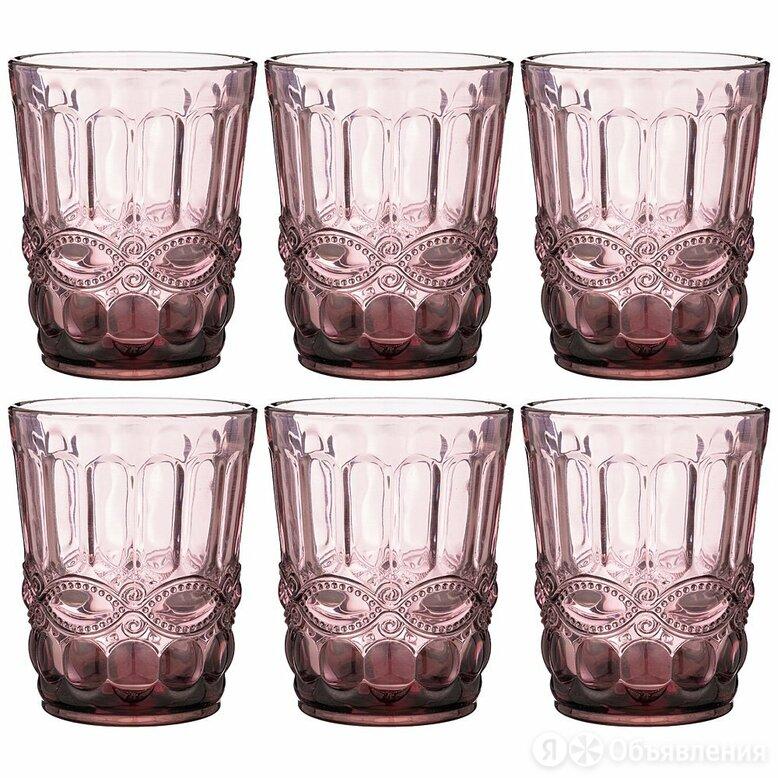 """Набор стаканов фиолетовый 270 мл, 6 штук """"Серпентина"""" по цене 1110₽ - Бокалы и стаканы, фото 0"""