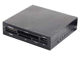 "USB-концентраторы - Картридер внутренний 3.5"" Gembird FDI2-ALLIN1-02-B, 0"
