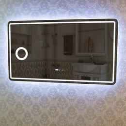 Зеркала - Зеркало DETO Z-125 125х70 см с LED-подсветкой и часами, 0