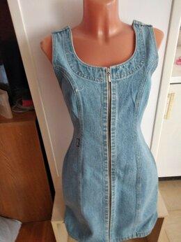 Платья - Новый джинсовый итальянский сарафан на молнии…, 0