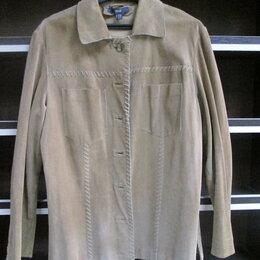 Рубашки и блузы - Рубашка замша тонкая натуральная, винтаж!, 0