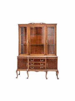 Шкафы, стенки, гарнитуры - Выставочная кабинет-витрина с буфетом в основании, 0