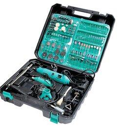 Дрели и строительные миксеры - Набор электрических мини-дрелей (2 штуки)  с гибким валом и набором насадок , 0