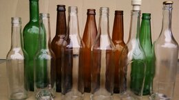 Бутылки - Продам стеклянную бутылку новая в ассортименте, 0
