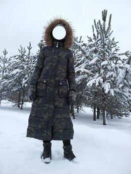 Пуховики - Пальто-пуховик камуфляж длинное, 0