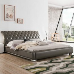 Кровати - Кровать двуспальная 160х200 см серая ESF, 0