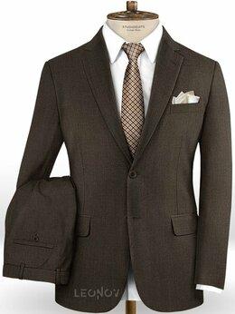 Костюмы - Темно-коричневый костюм из шерсти – Scabal, 0