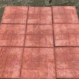Садовые дорожки и покрытия - плитка полимерпесчаная 450х450х35 усиленная 7.5 кг, 0