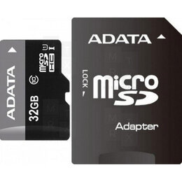 Карты памяти - Карта памяти MicroSDHC 32GB Class 10 A-Data + SD адаптер, 0